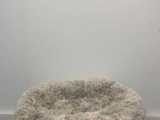 black and grey sherpa lined dog bed small medium
