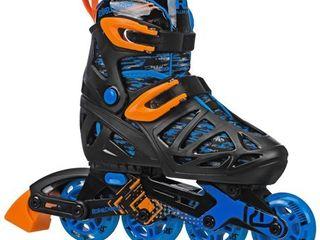 yes Roller Derby Tracer Boy s Adjustable Inline Skates size 12 1 Retail   40