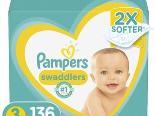 Pampers Swaddlers Soft and Absorbent Diapers  Size 3  136 Ct Retail   36