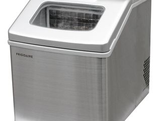 Frigidaire 40 lbs Countertop Clear Square Ice Maker  Stainless Steel Retail   160