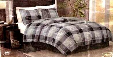 Woolrich 3 piece 100  Cotton Quilt Set Queen Retail   99