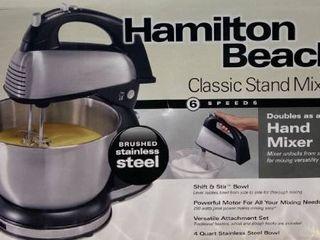 Hamilton Beach Classic Hand And Stand Mixer  4 Quarts  6 Speeds With Quickburst Retail   49
