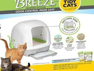 Tidy Cats Breeze Hooded litter Box System Retail   45