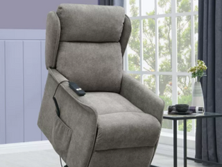 Homesvale Classic wing back Power recliner and lift chair chenille Retail   510