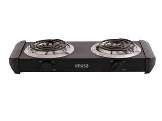 IMUSA Electric Double Burner  Black