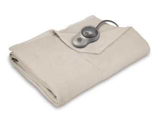 Sunbeam Quilted Fleece Heated Blanket  Full  Seashell  BSF9GFS R757 13A00 Retail   69