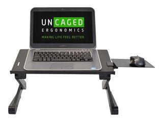 Workez Adjustable laptop Stand   lap Desk Black   Uncaged Ergonomics