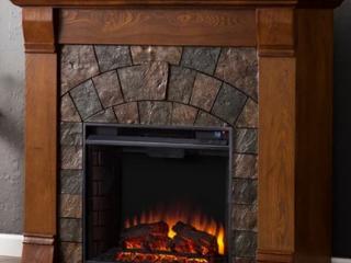 Carbon loft Fleming Antique Oak Electric Fireplace Retail   581