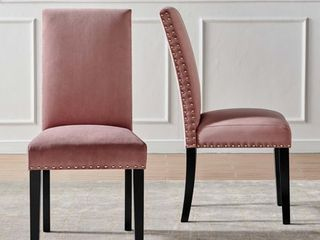 Parcel Performance Velvet Dining Side Chairs   Set of 2 in Dusty Rose Retail   180
