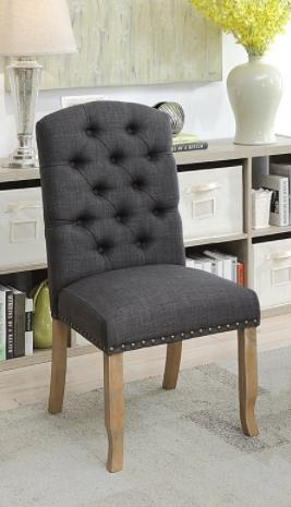 furniture of America dark gray side chairs  2  Retail   356