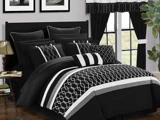 Chic Home design black comforter set king Retail   185