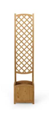 Bostick traditional square firwood Planter box with trellis  teak Retail   110