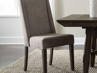 liberty furniture industries upholstered double bridge side chair dark chestnut Retail   275