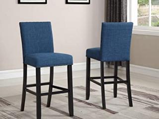 round Hill furniture two piece barstool dark blue fabric Retail   355
