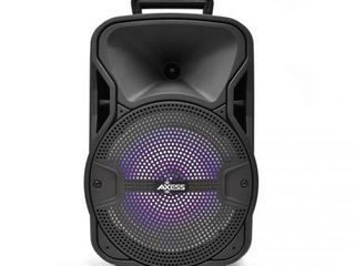 Axess PABT6052 8 in  Bluetooth Party Speaker With lED light