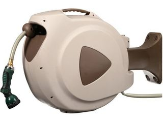 Rl FloMaster 65  Retractable Hose Reel with 8 Spray Pattern Nozzle