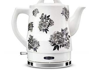 bella 14746 electric tea kettle  1 5 liter  black floral