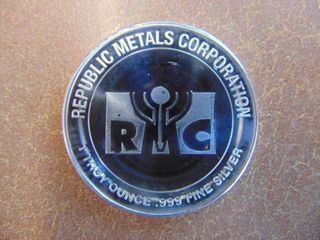 1 Troy oz   999 Silver Coin   Republic Metals Corporation