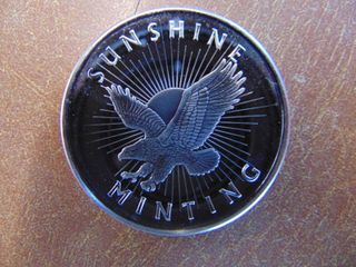 Sunshine Mint  1 Troy oz   999 Silver Coin