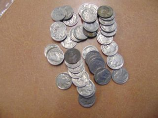 40 Buffalo Nickels   Assorted Dates