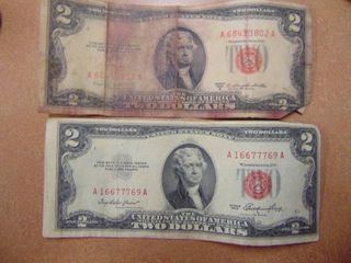 2   1953   Red Seal  2 Bills