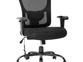 Big and Tall Office Chair 400lbs Cheap Desk Chair Mesh Computer Chair with lumbar Support Wide Seat Adjust Arms Rolling Swivel High
