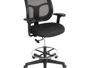 Eurotech Apollo Mesh Back Drafting Stool   26 1 2  36 1 2  Seat Height   Black