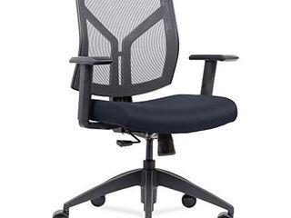 lorell Mid Back wth Mesh Back   Fabric Seat Chair  Dark Blue  Or Midnight Blue