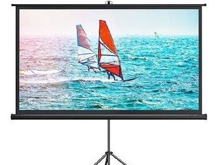 100 IN 16 9 Portable Projector Screen With Tripod  TT HP021