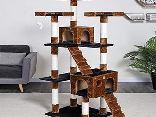 Go Pet Club 72  Cat Tree Condo Furniture   Brown Black model  F2082 USED