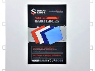 Snipers Edge Hockey Dryland Slick Tiles  20 White Squares    Premium Grade with Built to last UV Coated Protection   MADE IN USA