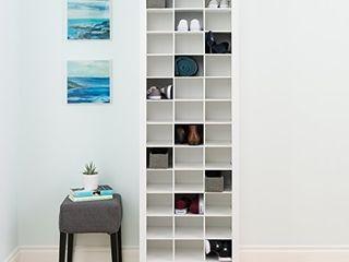 Prepac Shoe Storage Cabinet  36 Pair Rack  White