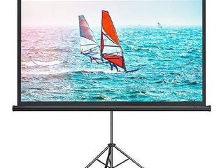 100 IN 16 9 Portable Projector Screen With Tripod
