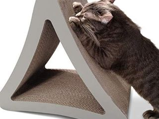 PetFusion 3 Sided Vertical Cat Scratching Post  Standard Size  Warm Gray