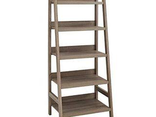 linon Tracey ladder Bookcase  25 W x 17 99 D X 60 H  Gray Wash