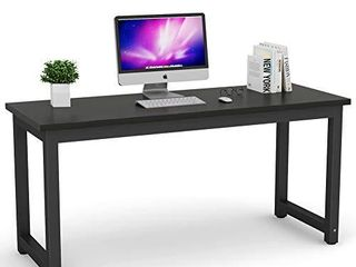 Tribesigns Computer Desk  63 inch large White Office Desk Computer Table Study Writing Desk Workstation for Home Office  COlORS differ from stock photo