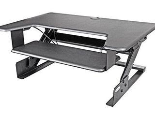 Kantek Sit to Stand Desktop Riser  Black  STS900