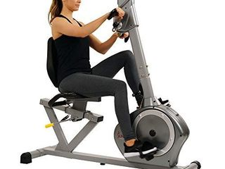 Sunny Health   Fitness Recumbent Bike SF RB4631 with Arm Exerciser  350lb Gray