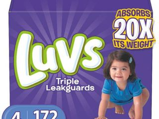 luvs Disposable Diapers Ginormous Pack   Size 4  172ct
