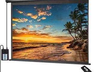 Motorized Projector Screen 100 inch 16 9 HD Diagonal Indoor and Outdoor   Black
