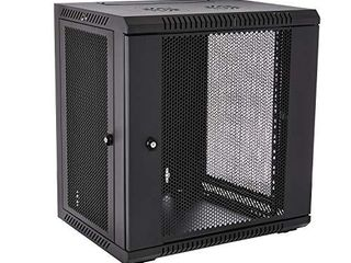 V7 RMWC12UV450 1N Rack Mount Wall Cabinet Enclosure 12U Vented Black
