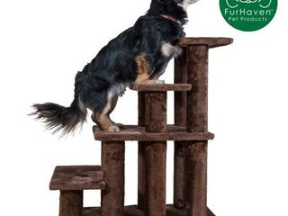 FurHaven Pet Stairs Steady Paws 4 Step Pet Stairs  Brown