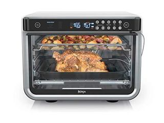 Ninja DT251 Foodi 10 in 1 Smart Air Fry Digital Countertop Convection Toaster Oven with Thermometer Xl Capacity and a Stainless Steel Finish