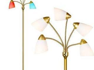 Brightech Medusa led Floor lamp   Multi Head Adjustable Tall Pole Standing Rea