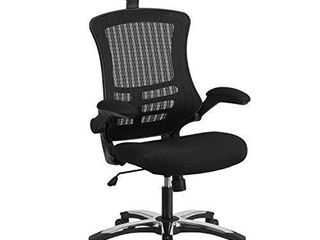 Flash Furniture High Back Black Mesh Swivel Ergonomic Executive Office Chair with Flip Up Arms and Adjustable Headrest