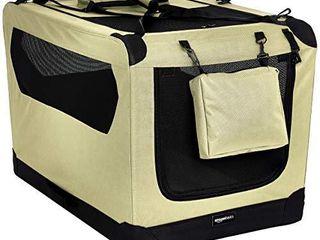 Amazon Basics Premium Folding Portable Soft Pet Dog Crate Carrier Kennel   36 x 24 x 24 Inches  Khaki