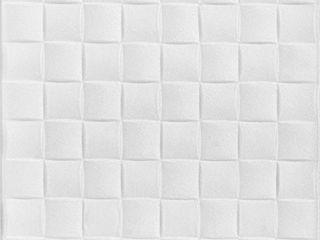 A la Maison Ceilings R25 Basket Weave Foam Glue up Ceiling Tile  128 sq  ft Case  Pack of 48  Plain White