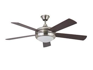 Stone   Beam Remote Controlled 5 Blade Ceiling Fan with light  52  Diameter  Brushed Nickel