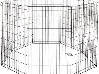 Amazon Basics Foldable Metal Pet Dog Exercise Fence Pen   60 x 60 x 42 Inches