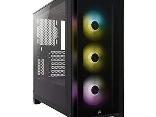 Corsair iCUE 4000X RGB Mid Tower ATX PC Case   Black
